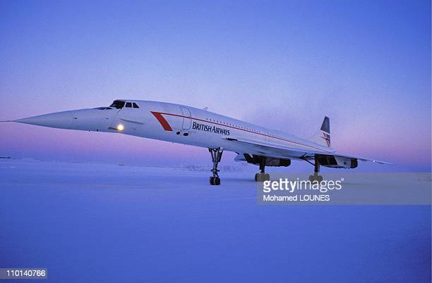 British Airways Concorde on a Christmas flight to Finland December 24 1987