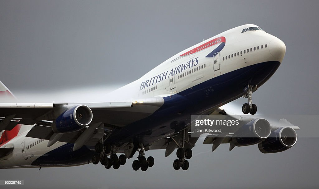 British Airways flight departs Heathrow Airport on November 13 2009 in London England Spanish Airline Iberia and British Airways have reached an...