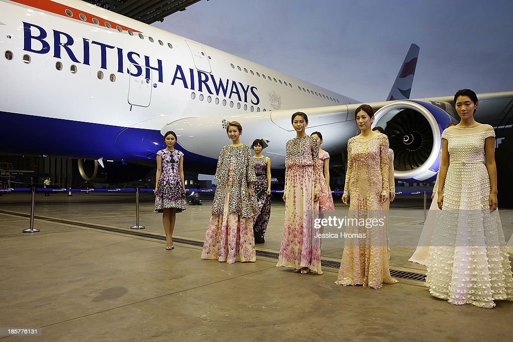 British Airways 'Gig On A Wing' event launches with a fashion show by acclaimed British designer Alice Temperley MBE, Showing her Spring/Summer 2014 collection on October 24, 2013 in Hong Kong.