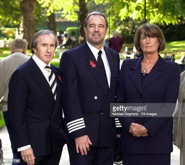 British Airways pilot Captain William Hagan who fought a cockpit intruder to save hundreds of passengers alongside flight survivor Lady Annabel...