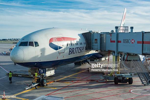 AIRPORT TORONTO ONTARIO CANADA British Airways plane in Pearson International Airport in TorontoCanada British Airways often shortened to BA is the...
