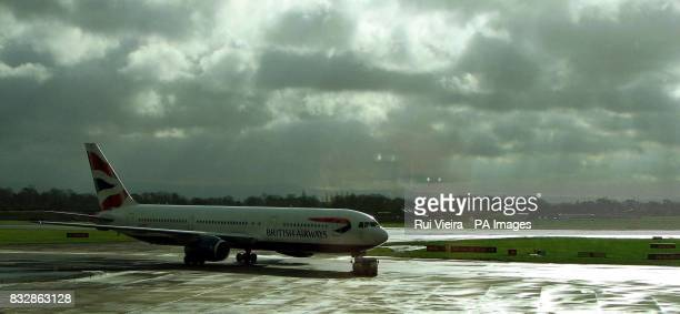 British airways plane on the tarmac at Manchester airport March 3 2007 PA photo Rui Vieira