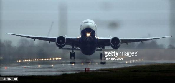 British Airways plane takes off at Heathrow airport on March 30 2010 in London England Today is the last day of a four day walk out by cabin crew...