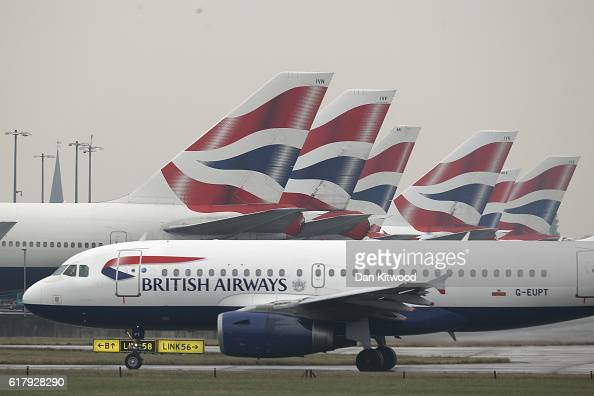 British Airways plane taxis from Heathrow's Terminal 5 on October 25 2016 in London England At a cabinet committee meeting today the government...
