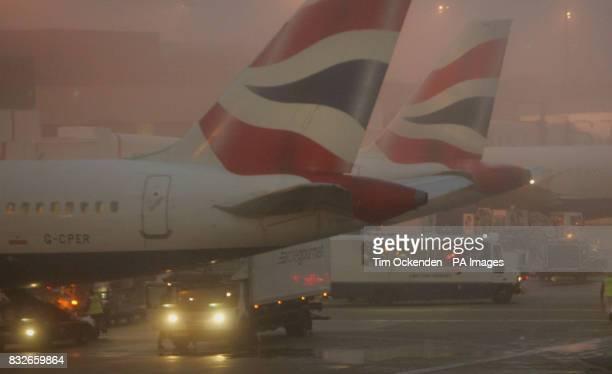 British Airways planes on the tarmac at Heathrow Airport