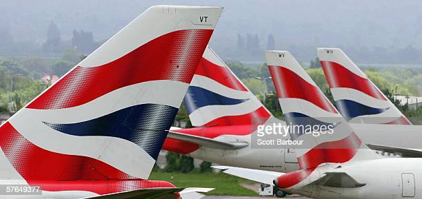 British Airways planes sit at Heathrow Airport on May 18 2006 in London England British Airways will announce their Q4 and year end results tomorrow