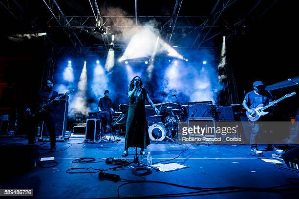 British alternative rock supergroup Minor Victories performs in concert at Ypsig Rock Festival on august 07 2016 in Castelbuono Italy