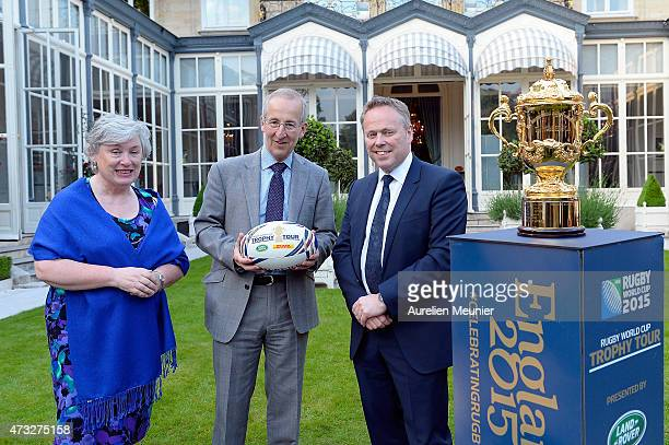 British Ambassador Sir Peter Ricketts his wife Lady Suzan Ricketts during a reception held at the British Embassy Residence during the Rugby World...