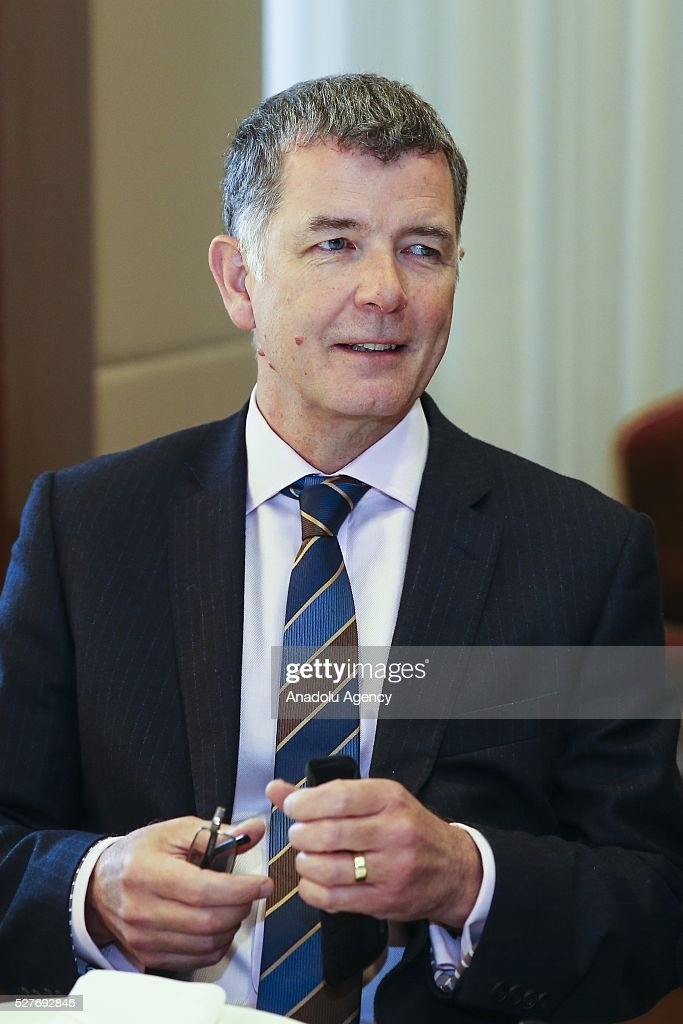 British Ambassador to Turkey Richard Moore attends 2nd meeting for the Ambassadors of the European Union countries at JW Marriott Hotel in Ankara, Turkey on May 3, 2016.
