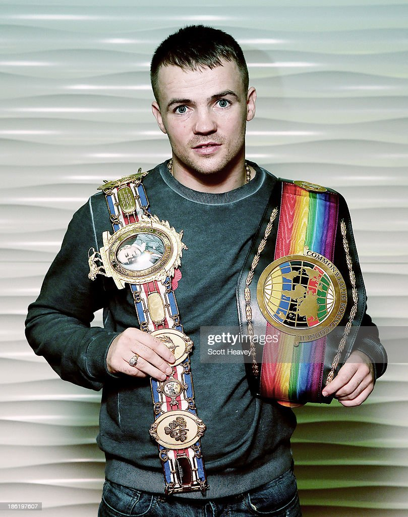 British and Commonwealth Welterweight Champion <a gi-track='captionPersonalityLinkClicked' href=/galleries/search?phrase=Frankie+Gavin&family=editorial&specificpeople=729577 ng-click='$event.stopPropagation()'>Frankie Gavin</a> during a press conference on October 29, 2013 in London, England.