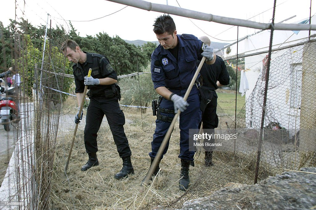 British and Greek police continue the search for Ben Needham, who went missing 21 years ago, on October 23, 2012 in Kos, Greece. The toddler from Sheffield was 21 months old when he vanished on the Greek island in July, 1991. Specialist British search teams and Greek police started excavating the site last week.