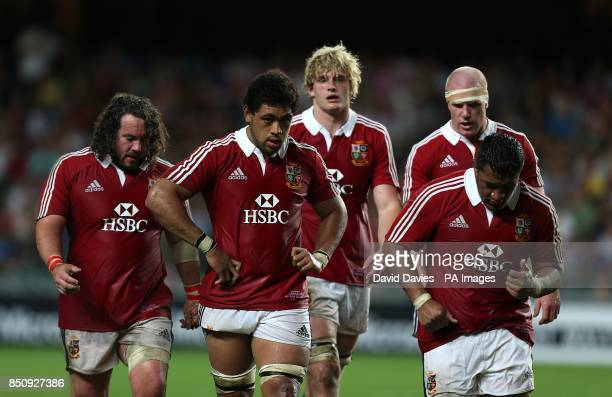 British and Irish Lions' Adam Jones Toby Faletau Richie Gray Paul O'Connell and Mako Vunipola