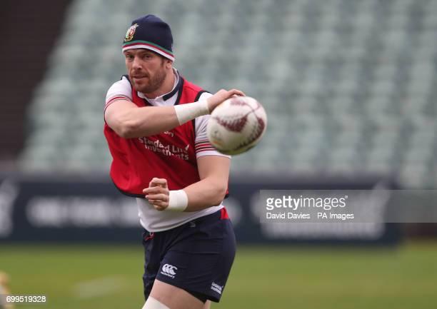 British and Irish Lions Alun Wyn Jones during the training session at the QBE Stadium Auckland