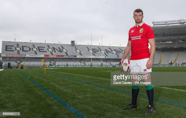 British and Irish Lions captain Peter O'Mahony poses for a picture at Eden Park Auckland