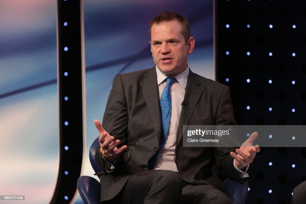 British and Irish Lions, Charlie McEwan speaks on stage at The Sport Industry Breakfast Club, supported by Deltatre and hosted by BT Sport, at the BT Centre on May 19, 2017 in London, England.
