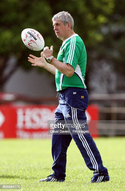 British and Irish Lions' Coach Ian McGeechan during a training session at Bishops School in Cape Town South Africa