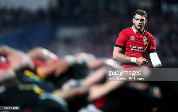 British and Irish Lions Dan Biggar during the tour match at the FMG Stadium Hamilton