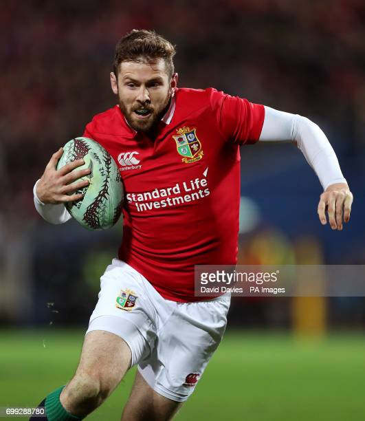 British and Irish Lions Elliot Daly during the tour match at the FMG Stadium Hamilton