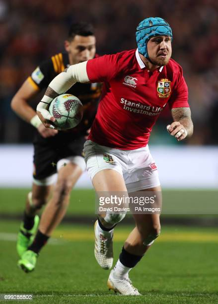 British and Irish Lions Jack Nowell during the tour match at the FMG Stadium Hamilton