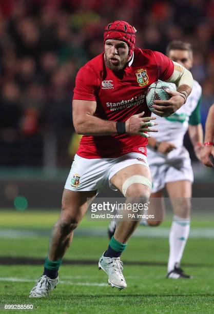 British and Irish Lions James Haskell during the tour match at the FMG Stadium Hamilton