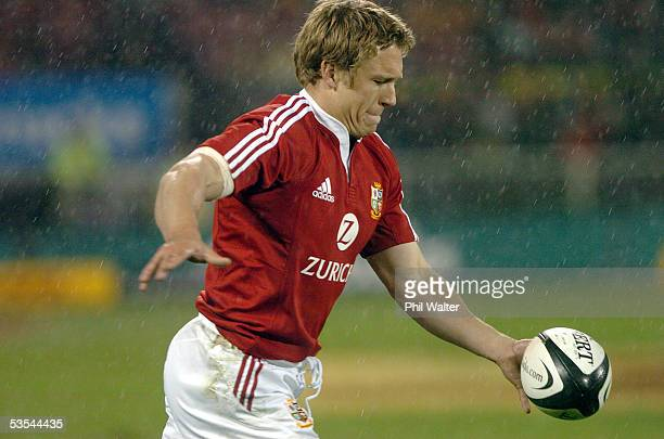 British and Irish Lions Jonny Wilkinson against the All Blacks in the first rugby test at jade Stadium in Christchurch New Zealand Saturday June 25th...