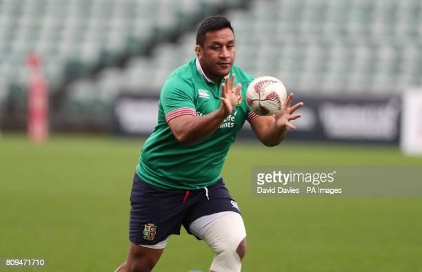 British and Irish Lions Mako Vunipola during the training session at the QBE Stadium Auckland