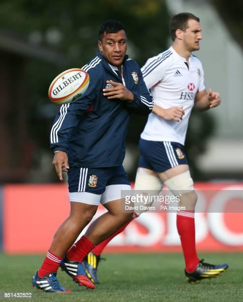 British and Irish Lions' Mako Vunipola during the training session atScotch College Melbourne in Australia