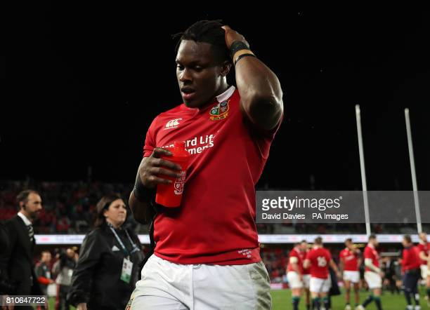 British and Irish Lions' Maro Itoje after the third test of the 2017 British and Irish Lions tour is drawn at Eden Park Auckland