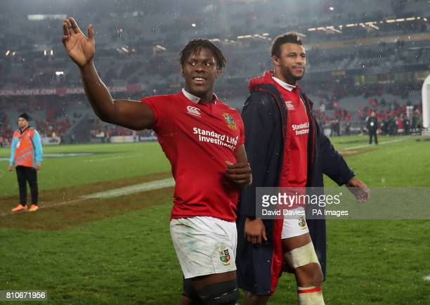 British and Irish Lions' Maro Itoje after the third test of the 2017 British and Irish Lions tour at Eden Park Auckland