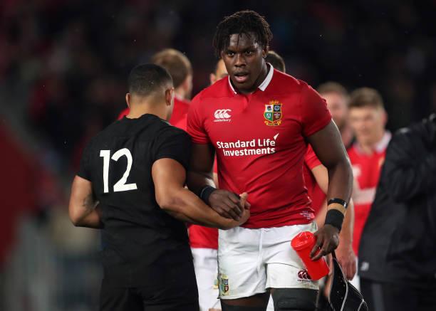 British And Irish Lions Maro Itoje New Zealands Ngani Laumape After The Third Test