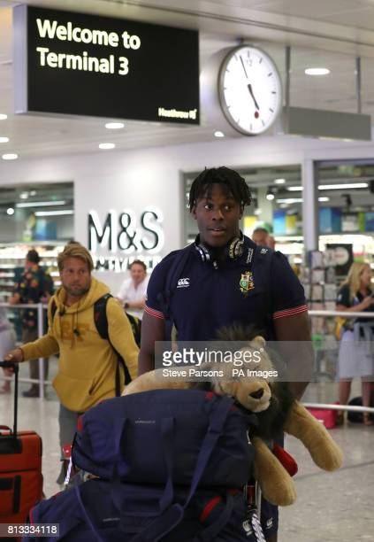 British and Irish Lions Maro Itoje arrives at Heathrow Airport as the British and Irish Lions return to the UK following their series draw with New...