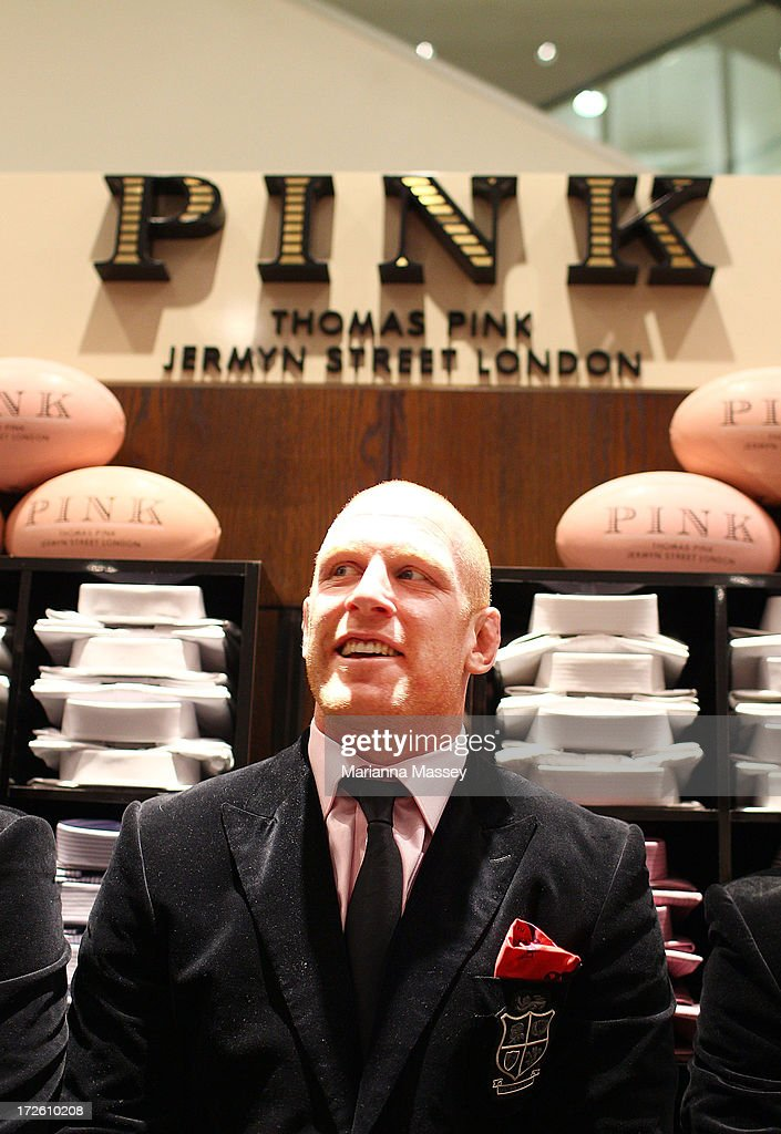 British and Irish Lions player Paul O'Connell during the David Jones Thomas Pink Event on July 4, 2013 in Sydney, Australia.