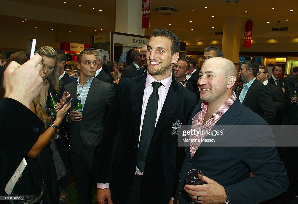 British and Irish Lions player <a gi-track='captionPersonalityLinkClicked' href=/galleries/search?phrase=Sam+Warburton+-+Rugby+Player&family=editorial&specificpeople=4234449 ng-click='$event.stopPropagation()'>Sam Warburton</a> speaks with fans and signs autographs during the David Jones Thomas Pink Event on July 4, 2013 in Sydney, Australia.
