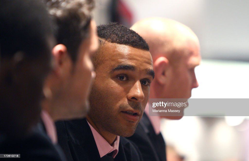 British and Irish Lions player <a gi-track='captionPersonalityLinkClicked' href=/galleries/search?phrase=Simon+Zebo&family=editorial&specificpeople=7036694 ng-click='$event.stopPropagation()'>Simon Zebo</a> during the David Jones Thomas Pink Event on July 4, 2013 in Sydney, Australia.