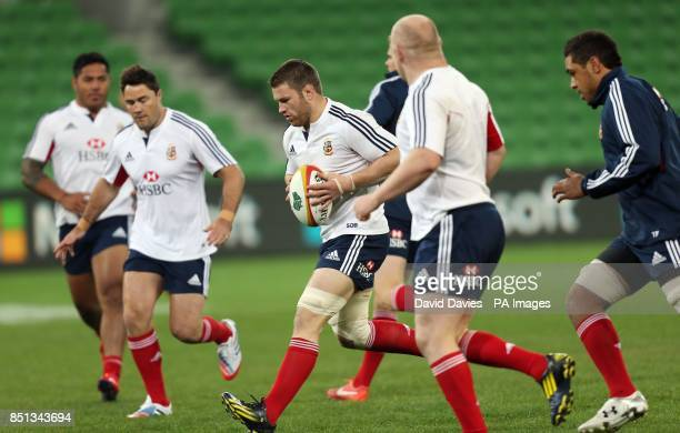 British and Irish Lions' Sean O'Brien during the training session at AAMI Stadium Melbourne in Australia