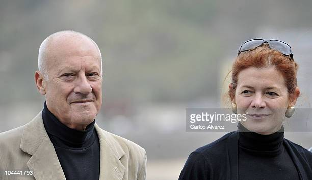 British architect Norman Foster and his wife Elena Ochoa attend 'How Much Does Your Building Weigh Mr Foster' photocall during the 58th San Sebastian...