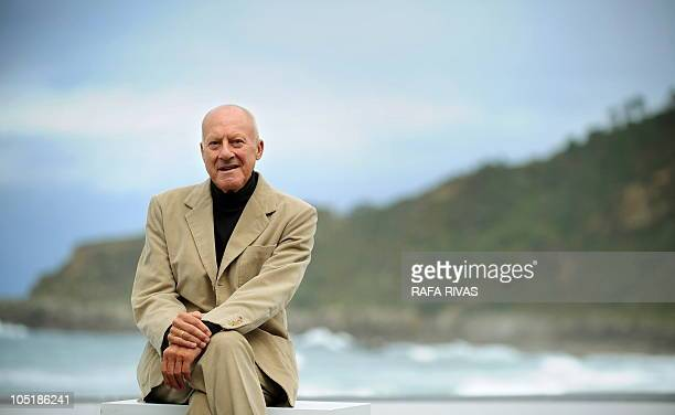 British architect Norman Foster poses after the screening of the 'How Much does your building weigh Mr Foster ' produced by his wife Elena Ochoa...