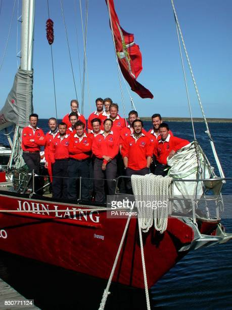 British Army Antarctic Expedition crew aboard the John Laing moored at the Falkland Islands before setting sail 271101 A team of British Servicemen...
