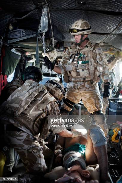 British Army Medical Emergency Response team Sgt Mark Mitchell British Army Anaesthetist Lt Col Ian Hicks and British Army Medical Emergency Response...