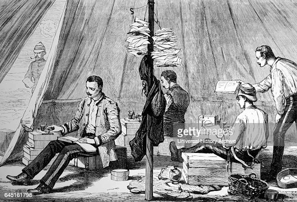 British army telegraph tent during the war in Egypt 1882