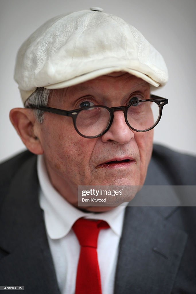 British artist David Hockney attends the launch of his new exhibition 'Paintings and Photography' at the Annely Juda fine art gallery on May 14 2015...