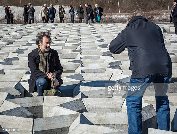British artist Mike Nelson shows the press of his latest art work 'Imperfect geometry for a concrete quarry'