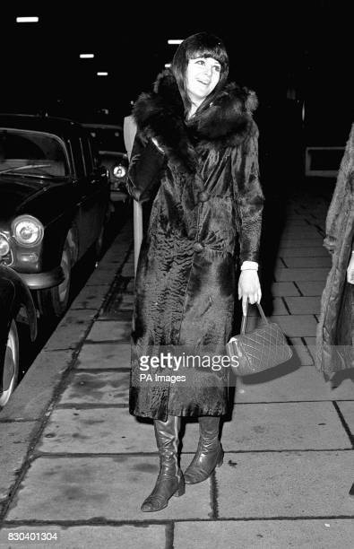 British artist painter Caroline Coon who was charged with obstructing the police arriving at Marlborough Street London * Coon was charged with others...