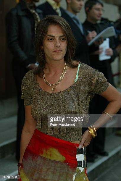 British artist Tracey Emin arrives for the opening of the Saatchi Gallery London England April 15 2003