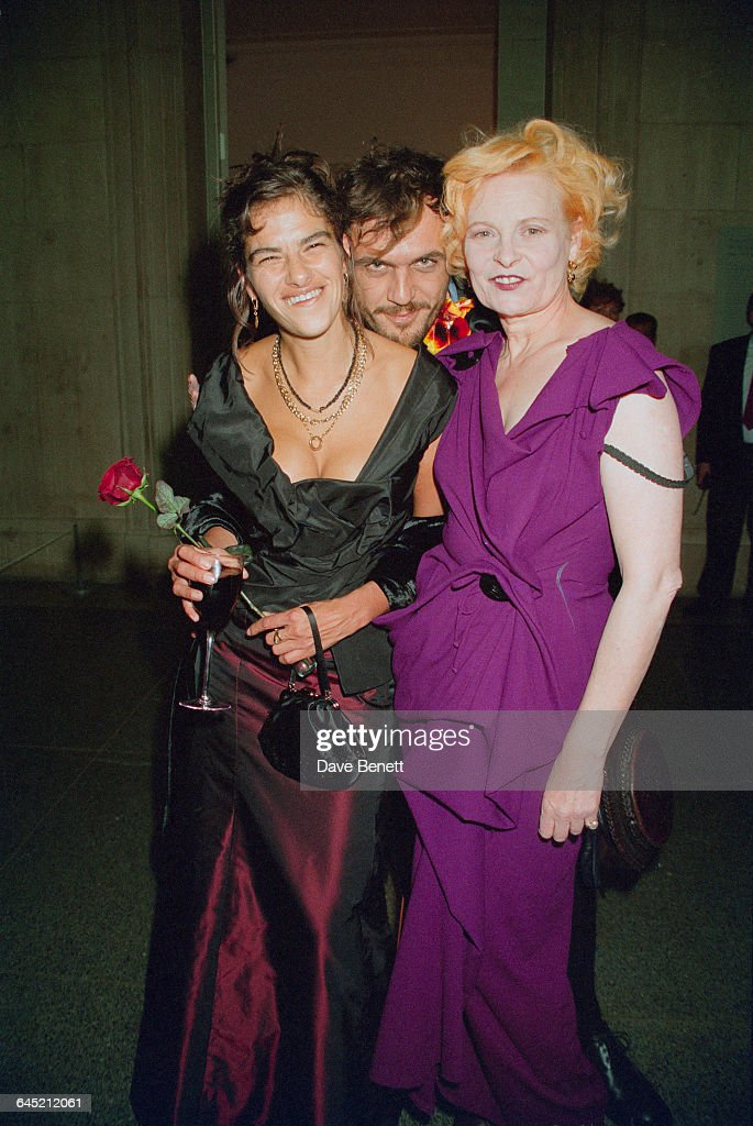 British artist Tracy Emin with fashion designer Vivienne Westwood and her husband Andreas Kronthaler at the Turner Prize awards ceremony held at the...