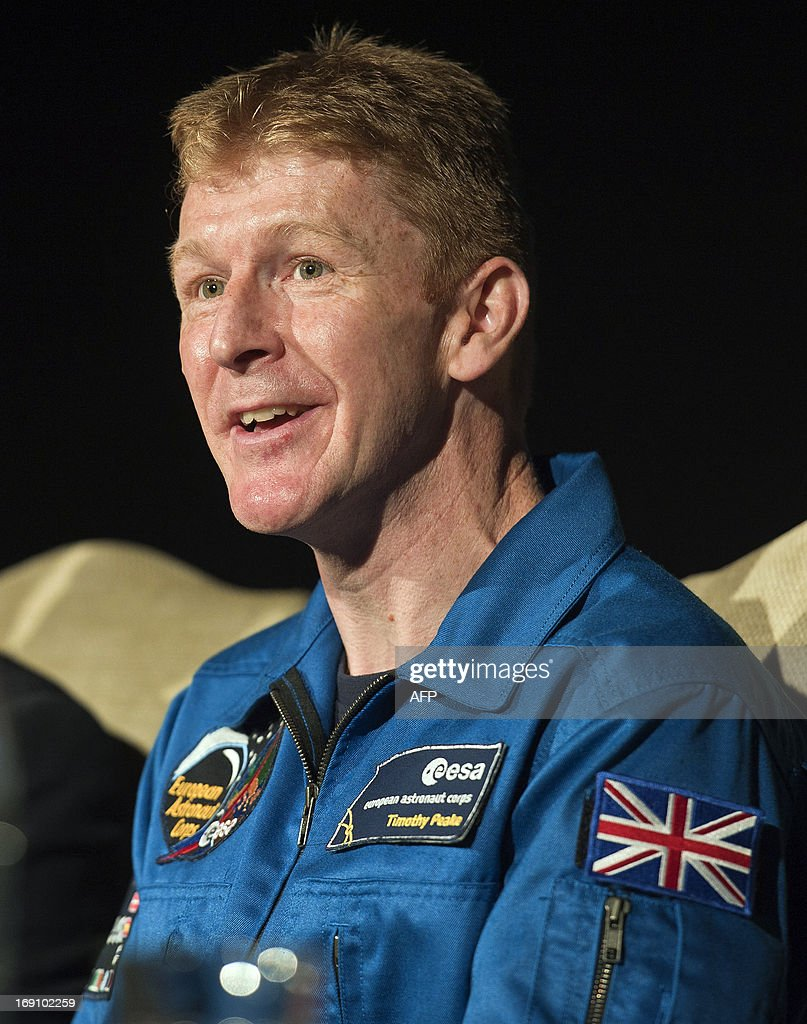 British astronaut Major Tim Peake attends a press conference at the Science Museum in central London on May 20th 2013, where it was announced he will be joining the International Space Station (ISS) in late 2015. A former army helicopter pilot was on May 20 named as the first 'home-grown' British astronaut to head to the International Space Station. Major Tim Peake, 41, will fly out to the ISS in November 2015 as part of a six-man crew, becoming the first Briton ever to travel to space on a British government-funded mission.
