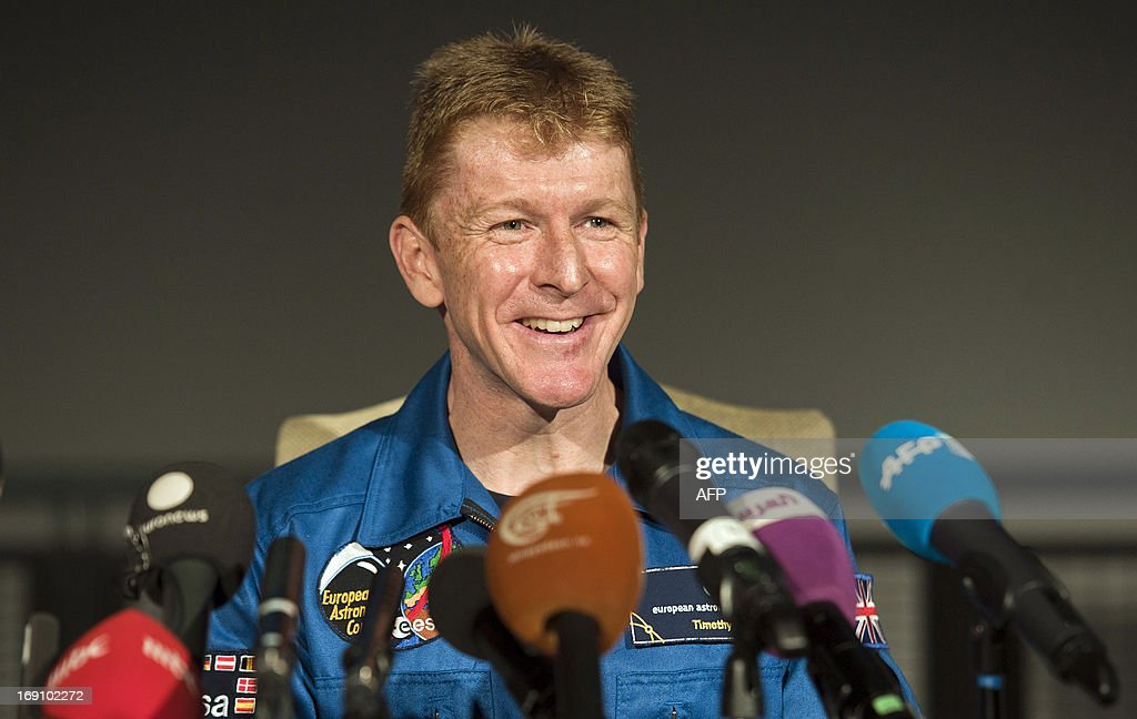 British astronaut Major Tim Peake attends a press conference at the Science Museum in central London on May 20th 2013, where it was announced he will be joining the International Space Station (ISS) in late 2015. A former army helicopter pilot was on May 20 named as the first 'home-grown' British astronaut to head to the International Space Station. Major Tim Peake, 41, will fly out to the ISS in November 2015 as part of a six-man crew, becoming the first Briton ever to travel to space on a British government-funded mission. AFP PHOTO / WILL OLIVER