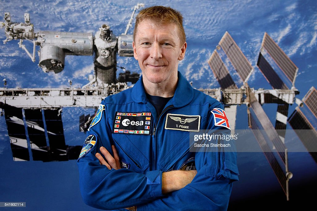 British astronaut Tim Peake poses after his first press conference since his return from space at the European Space Agency (ESA) European Astronaut Centre on June 21, 2016 in Cologne, Germany. Peake spent six months in space and returned to earth in a Soyuz craft on June 18.