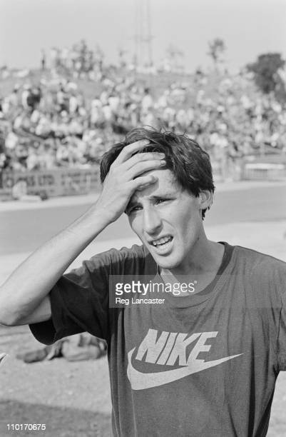 British athlete Sebastian Coe at an event in Haringey London 20th August 1984