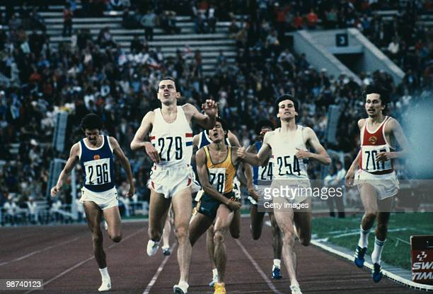 British athletes Steve Ovett and Sebastian Coe during the Olympic Games in Moscow 1980